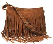 Hippie Suede Fringe Tassel Messenger Bag Hobo Shoulder Bags Crossbody Handbag