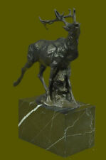 Handcrafted Caribou Elk Stag Buck Bronze Sculpture Trophy Hunter Figurine Figure