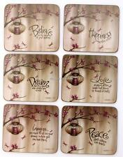 Purple Cherry Blossom Coasters x 6 By Lisa Pollock New Great Gift Idea
