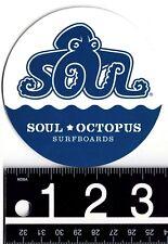 "SOUL OCTOPUS SURFBOARDS DECAL Soul Octopus Octopus 3.5"" Round Surf Ocean Sticker"