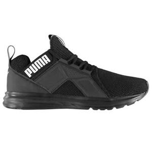 Puma Enzo Weave Mens Trainers UK9 uk 9 - Black/White - Brand New