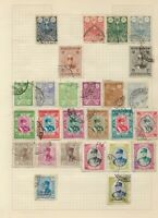 MIDDLE EAST Stamps on 3 Pages from old stamp albums Palestine etc