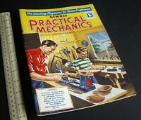 Practical Mechanics Mag. Modelling Crafts Engineering Projects July 1957 Vintage