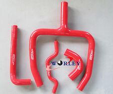 Red silicone radiator hose Y kit FOR Kawasaki KX250F KXF250 2009-2015 14 13 12