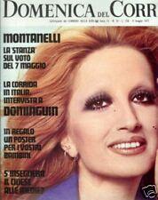 DOMENICA DEL CORRIERE  1972  LE CONFESSIONI DI MINA