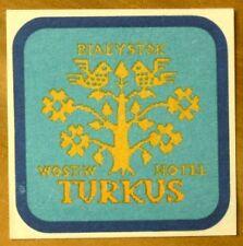 Luggage Label: Hotel Turkus, Bialystok, Poland