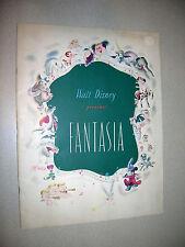 Walt Disney Presents Fantasia Program 1940 Great Condition!