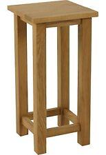 Portland solid oak furniture tall square lamp side table