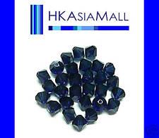 20 Swarovski Crystal Beads Bicone 5301 DARK INDIGO 6mm