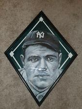Babe Ruth Original Art Sketch Painting Artwork 14x14 Diamond Frame