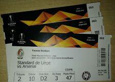 Ticket football Standard - Arsenal FC England Angleterre 12/12/19  Europa League