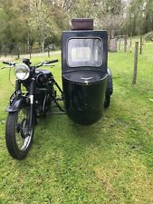 Matchless G80 vintage motorcycle and sidecar