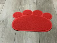 Red PAW Easylifer Cat Litter Mat Non-slip Food Bowl Feeding Placemat Mat Pet UK