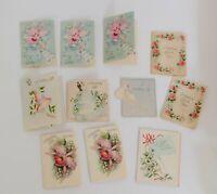 Vintage Greeting Card Lot Mini Wedding Gift Bride Flowers Junk Journal Ephemera