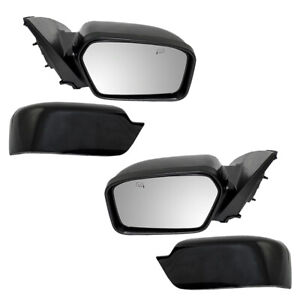 Pair Set Power Side View Mirrors Heated for 2006-2010 Ford Fusion Mercury Milan