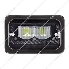 2 4x6'' Led black Headlight Sealed high Beam universal Peterbilt Kenworth 34134