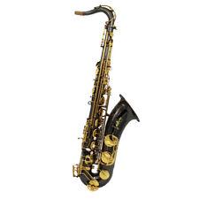 Eastern music black nickel plated Tenor Saxophone full body engravings gold key