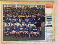 U.C. SAMPDORIA CALCIO CAMPIONATO 1965/66 POSTER SQUADRA GIORNALINO SPORT