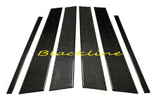 For 04~09 VW Golf MK5 Rabbit Hatchback Carbon Fiber 4-Door Trim Pillar Panel 6ps