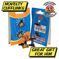 Daffy Duck Cufflinks Cool Looney Tunes Cartoon Cuff Links Unusual Gift Idea
