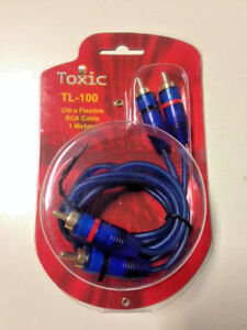 Chinch Kabel RCA, von Toxic TL-100, 1m, High End Stereo Audio, vergoldet