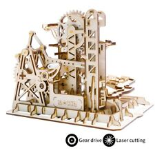 ROBOTIME DIY Wooden Marble Run Model Kits Building Construction Gear Drive Toy