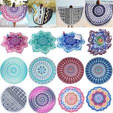 Round Hippie Mandala Indian Tapestry Throw Boho Beach Yoga Mat Towel Blanket