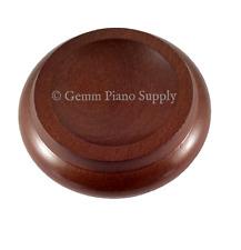 "Gemm Piano Hardwood Maple Caster Cups, Walnut, 3-1/2"" x 2-3/8"""