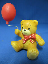 Lucy & Me Teddy Bear Red Balloon Window Cling Suction Cup Figurine Enesco Rigg