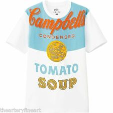 ANDY WARHOL x UNIQLO 'Campbell's Soup Can (Tomato)' Art T-Shirt Men's M **NWT**