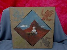 SHIPROCK Navajo Sand Art Picture W Wedding Basket & Pottery, Signed By R. HARVEY