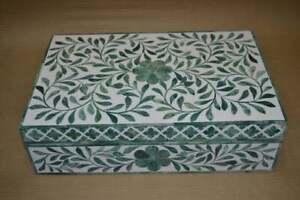 Bone Inlay box Jewelery Box Beautiful Floral Jewelery Box Muti-Purpose Bone inl