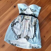 Women's size 8 'ALICE McCALL' Gorgeous strapless fit and flare wrap dress-AS NEW