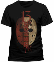 Official Friday the 13th T Shirt Japanese Mask Jason Voorhees Black M L NEW
