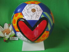 Kunstobjekt Fußball Guarani 21 x 21  x 26 cm Designer Britto von Goebel