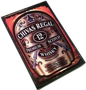 CHIVAS REGAL Premium Scotch Whisky Wooden Fridge Magnet Rock Merchandise