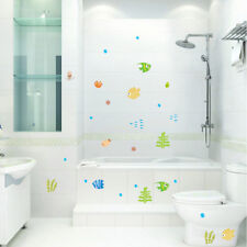 Colorful FISH & BUBBLE Wall Sticker Kids Room Decal Bathroom Removable Decor