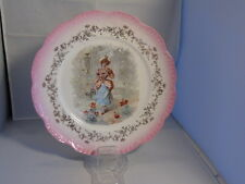 Sebring Pottery Company Transferware Cabinet Plate - Lady in a Rose Garden