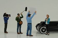 Figur Kamera Reporter Crew Racing Set 4 pcs 1:18 American Diorama no car