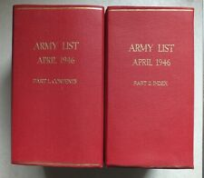 More details for the quarterly army list april 1946