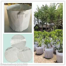 5 Packs 7 Gallon Round Fabric Pots Plant Pouch Root Container Grow Bags Aeration