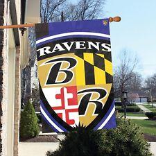 Baltimore Ravens 24 x 36 Bold Logo Banner Flag