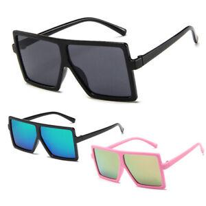 1 Pair Oversized Square Sunglasses Flat Top Glasses Kids Gift UV400 Protection