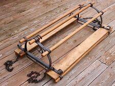 "Vintage Wrought Iron Wood Ceiling Kitchen Island Hanging Pot Rack Pan Holder 43"""
