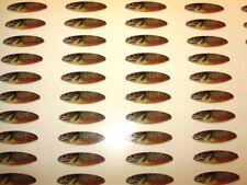 PHOTO REALISTIC Fishing Lure Tape Die Cuts #4 Willowleaf 100pk SUNFISH