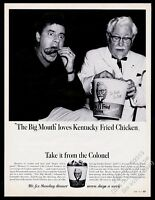 1967 Colonel Sanders Jerry Lewis photo KFC Kentucky Fried Chicken print ad