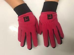 LADIES Fleece Backed Winter Golf Gloves Pair Small Medium Large £5.99! Jan sale!