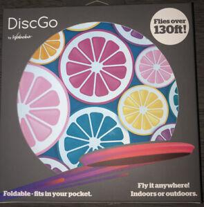 Waboba DiscGo Foldable Frisbee Colorful Lemons New In Box
