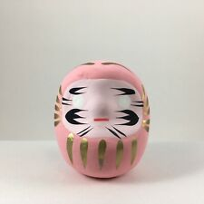 "Japanese 2""H Pink Daruma Doll Papermache Wish Making LOVE Success Made in Japan"