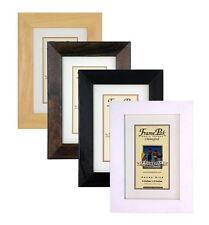 Portafotos y marcos decorativos negros de madera para el hogar